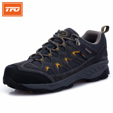 TFO running shoes men women outdoor sports shoes sneakers running shoes jogging walking breathable real leather waterproof run(China (Mainland))