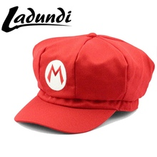 2017New Super Mario Cotton Caps Red Hat Mario And Luigi Cap 5 Colors Anime Cosplay Costume Halloween Buckle Hats Adult Hats Caps