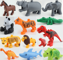 2016 New Large Animals Building Blocks Parts Toy Accessories Collection Animal Model Bricks Compatible Duploe