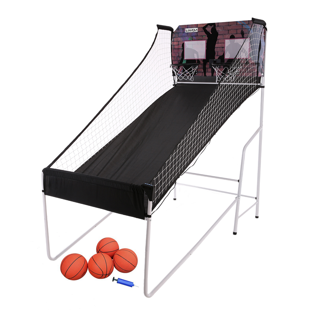 Lixada Electronic Basketball Double Shootout Shot Game Set System Competition Home Indoors(China (Mainland))