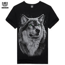Buy Rocksir 2017 Brand Clothing Newest Fashion wolf Design T Shirt Summer Men/Boy animal Novelty Short Sleeve T-Shirt Tops for $6.88 in AliExpress store