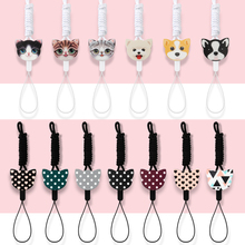 Mr.orange Mobile Phone Lanyard Fashion Cartoon cat dog  Key Lanyard Mobile Keychains Neck Straps Anti-theft Mobile Phone Chain