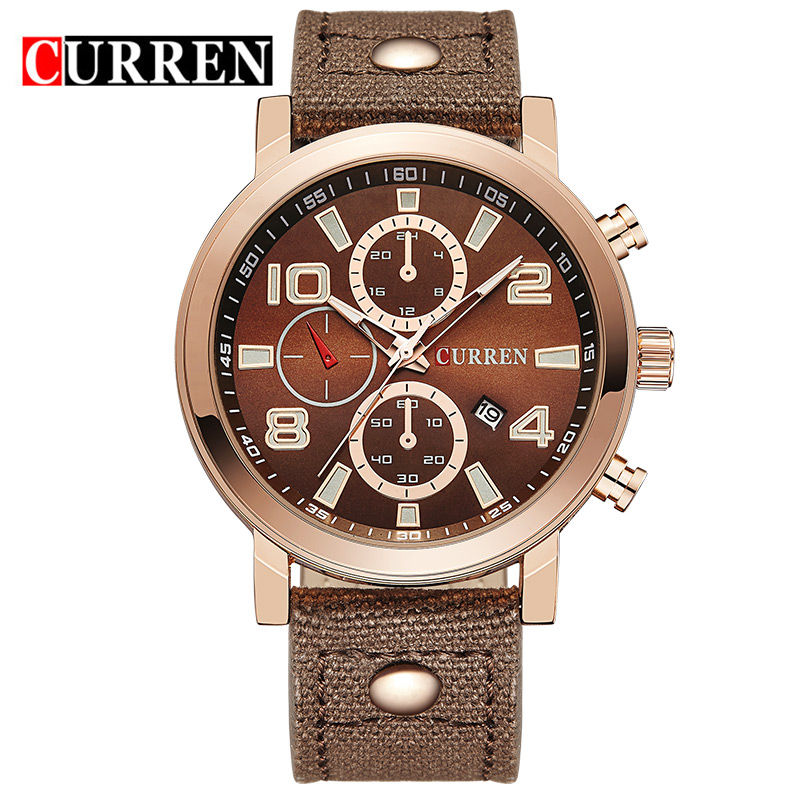 Curren Relojes Mens Sports Quartz Watches Mens Watches Top Brand Luxury Leather Wristwatches Men Watches Masculino 2016<br><br>Aliexpress