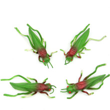 Locust grasshopper  Insect  model  toys soft TPR material  tricky early AIDS film props 4PCS/ A LOT