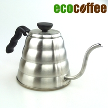 High Quality 1000ML Stainless Steel  Coffee Kettle Teapot Coffee Kettle Style V60 Tea and Coffee Drip Kettle pot
