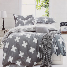 Grey Crossing Single Double Queen King Size Bed Set Sheet Pillowcase Quilt Duvet Cover Sets Bedlinen Bedclothes Luxury Bedsheet