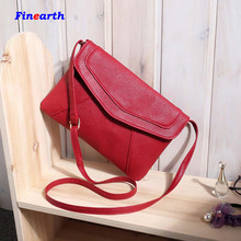 Hot sale Women Leather Bag Tassel Fold Cover Shoulder Crossbody Bag Envelope Bolsas wholesale price