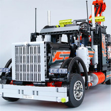 Lepin 20020 Technic Mechanical Ultimate Series The American Style Heavy Container Trucks Set 8285 Building Blcoks Bricks Toys(China)