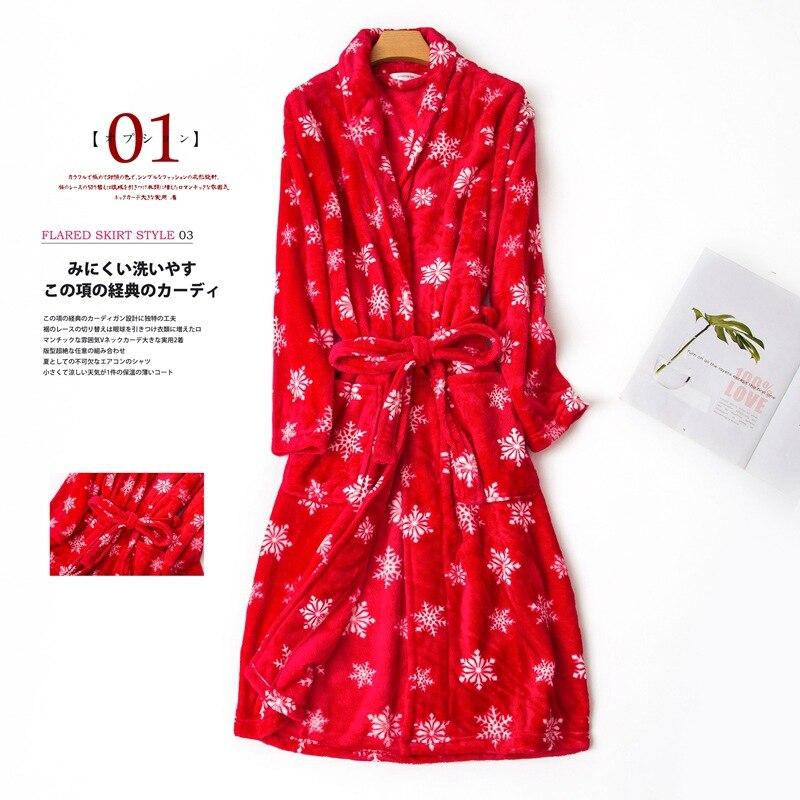 women flannel bathrobe winter (5)
