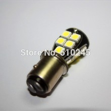 30x good quality 1157 BAY15D 18 SMD 5050 Red CANBUS OBC No Error Signal P21/5W Car 18 LED Light Bulb free shipping(China)