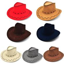 2017 Fashion Summer Spring Sun Hat Cowboy Hat Men and Women Outdoor Caps Fashion Straw Cowboy hat 7 Colors(China)