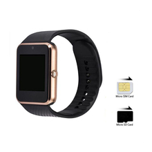 GT08 Bluetooth Smart Wrist Watch GSM Phone For Android IOS iPhone Smartphone Black Gold Support SIM TF Card