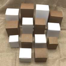 50pcs/lot- white paper cardboard box for packing ,DIY white packaging boxes,DIY white candy boxes handmade soap boxes(China)