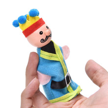 6 Pcs/lot Queen Puppet Toy Kids Baby Story Telling Stuffed Toys Means Even Dolls Puppet Placarders Doll Wholesale