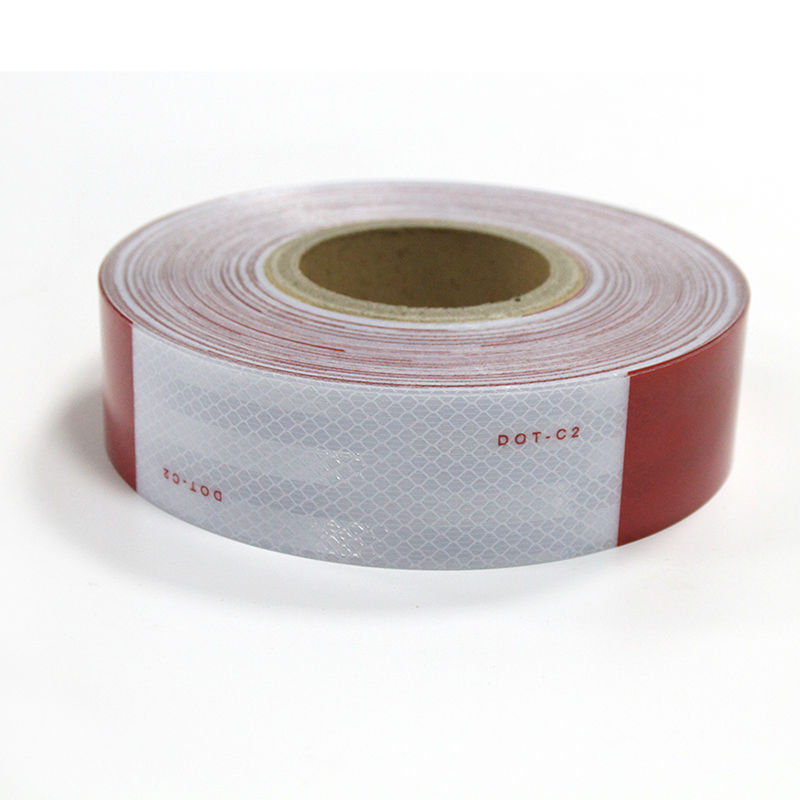"Reflective Conspicuity Tape 2"" x 150' Red/White 3M Reflective Vinyl and Reflective Trailer Tape(China)"