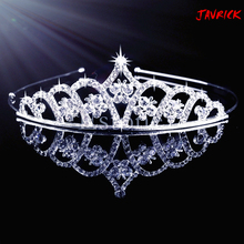 New Girl Crystal Wedding Prom Crown Rhinestone Hair Jewelry Headband Bridal Veil Tiara  T52