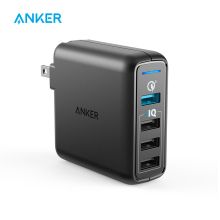 Anker Quick Charge 3.0 43.5W 4-Port USB Wall Charger, PowerPort Speed 4 for Galaxy S7/S6/edge/edge+, Note 4/5, LG G4/G5, HTC etc(China)