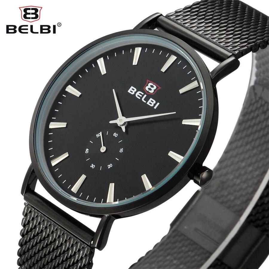 2017 BELBI Simple Style Steel Mesh Men Watch Top Brand Luxury Quartz Mens Watches Business Fashion Dress Analog Wristwatch Clock<br><br>Aliexpress