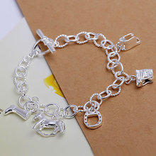 H074 silver horse bracelet,fashion jewelry, trendy chain,wholesale,Nickle free antiallergic ,factory price