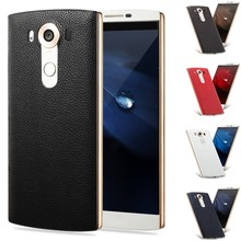 Cases Covers Genuine Leather, plastic Black Gold Blue Red Genuine Slim Skin Protective Hard Back Case Cover For LG V10 H968
