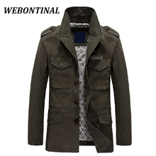 WEBONTINAL Autumn Winter Style 2017 Casual Windbreaker Male Parka Men Trench Coat Man Quality Overcoat Brand Clothing