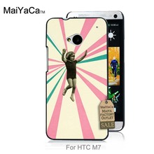 On Sale Luxury Cool phone Accessories Case For case HTC One M7  Little Girl Print Retro Wall Art Female portrait Print Play