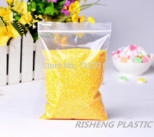"18x26cm(7.09"" x 10.24"") Thick Clear plastic bag 100 X PE Zip Lock Poly bag Resealable zipper grip seal Electronic packaging"