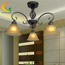 European-style living room chandelier bedroom lamp creative restaurant light penthouse floor wrought iron chandelier(China)