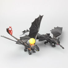 Retail 1 Piece How to Train Your Dragon Toys Night Fury Toothless PVC Action Figure Toys Dolls 23-27 cm 2 Styles to Choose