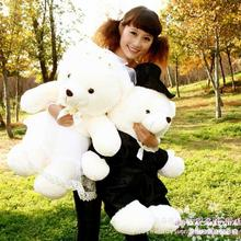 80cm loves teddy bears wedding bears a pair plush toy doll wedding decoration gift w4269(China)