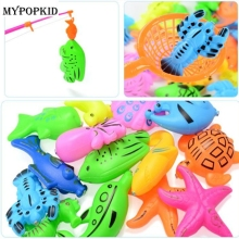 2 pcs/lot Cartoon 3D Fish Model Clown Fish Lobster Tortoise Magnetic Marine Fish Bathroom Floating Play Water Kid Toy