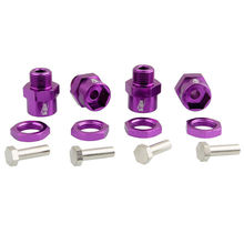 Purple Metal Wheel Hex 12mm Turn 17mm 4P RC For 1/10&1/8 Buggy/Truck Tires Rim