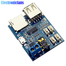 1Pcs TF Card U Disk MP3 Format Decoder Board Mirco USB Port Amplifier Decoding Audio Player Module 3.7-5.5V(China)