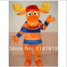 Moose Tyrone Mascot costume cute Adult size Halloween cartoon character fancy dress carnival costume outfit suit(China)