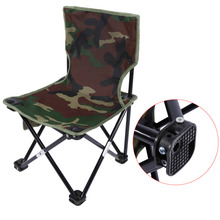 Outdoor Portable Folding Fishing Chair Camping Chair Stable Beach Picnic Chair Seat With Bag 33 x 33 x 53cm