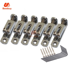 6pcs Tooyful Solo Single Guitar Bridge w/ Wrench Screw for 3/4/5/6/7/8 String Guitar Cigar Box Banjo Parts