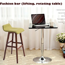TOP,Capable of rotating and lifting the bar,computer table,bar table,bar furniture products,shiny metal base.