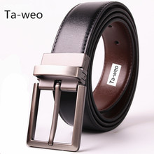 Reversible Black & Brown Belts, Fashion Business Men's Leather Belt, Pin Buckle Belt, Designer Belts Men High Quality