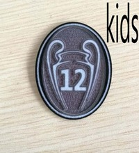 Trophy 12 times Champions League 2017 RM Champion patch yonth Patch Soccer patch Soccer Badge cloth kids patch