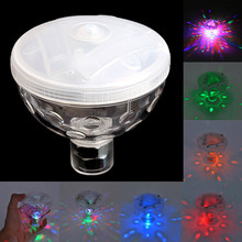 1Pc 4 LED Floating Underwater Disco Light Glow Show Swimming Pool Hot Tub Spa Lamp