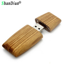 SHANDIAN (over 10 PCS free LOGO) Wooden black usb flash drive flash Pendrive 4GB 8GB 16GB 32GB LOGO customized wedding gift