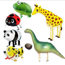 1 piece many  15 type walking animal dinosaur balloons deer panda dog car tortoise elephant balloons children birthday gift