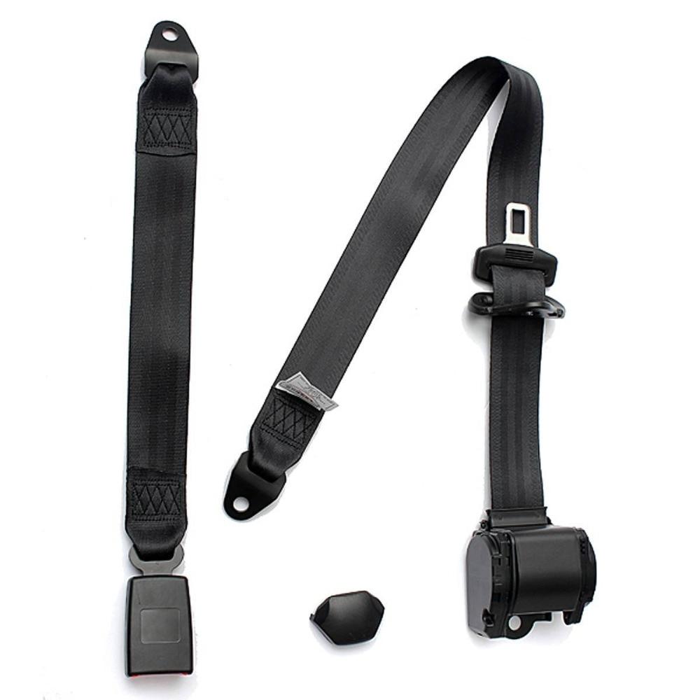 Safety Strap In Black Adjustable 2 Point Lap Seat Belt for Motorhome