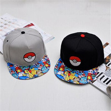 2016 Hot cartoon Pokemon cap embroidered hip-hop wizard ball pokemon hat baseball cap wholesale deus cap gorra