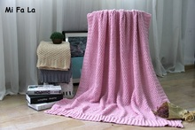 Hot Home Textile Knitted plaid bedspreads blanket throw cobertor soft portable car air conditioner blankets for beds camping