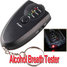 10pcs/lot Mini Accurate Breath Alcohol Tester with Flashlight Professional Digital Breath Alcohol Tester without LCD display(China)