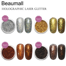 2.5g/pot,0.2mm (1/128 008) Holographic Laser Glitters Powders Dusts Chrome Pigments For Nail ,Tatto Art Decorations.(China)