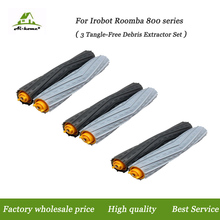 New High Quality 3 set Tangle-Free Debris Extractor Brush for iRobot Roomba 800 900 Series 870 880 98 Vacuum Cleaner Robot Parts(China)