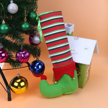 Christmas Table Dining Chair Leg Covers Machine Washable Restaurant Wedding Party chair feet Covers Christmas Decorations E5M1