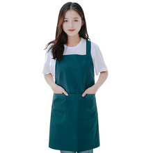 Fashion Flower Shop Apron Kitchen Cotton Adult Anti-fouling Uniforms Dark green Customize logo image delantal tablier